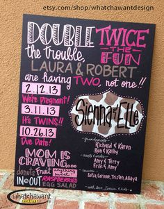 Custom Hand-Painted 10x15 CHALKBOARD baby by WhatchawantDesign