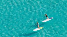 Carvajal beach in Fuengirola is the first beach in Spain to have a dedicated 'paddle surf' zone. Lessons are available as well as boards to rent at 15 Euros per hour.