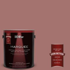 BEHR MARQUEE 1-gal. #MQ1-17 Autumn Russet Flat Exterior Paint