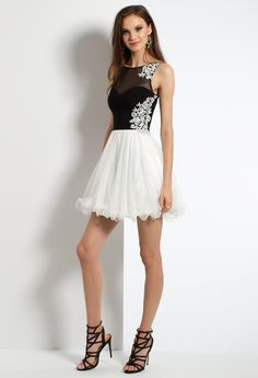 Illusion Two-Toned Homecoming Dress #camillelavie
