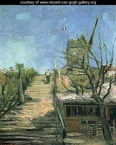 Windmill On Montmartre - Vincent Van Gogh - www.vincent-van-gogh-gallery.org