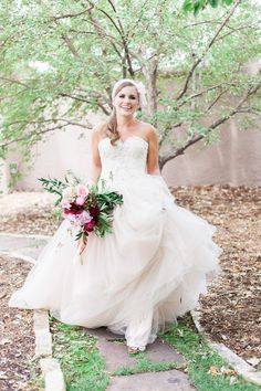 Wedding dress trends | Rachel Havel Photography and Emma and Grace Bridal Studio | see more on: http://burnettsboards.com/2014/09/gauzy-dreams-blush-cream-ivory-wedding-dresses/