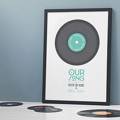 Personalised 'Our Song' Print - shop by occasion