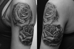 similar to the rose tattoo im getting next week to cover up the one on my forearm (top rose not bottom)