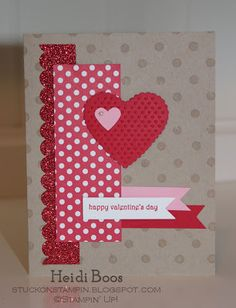 Stuck on Stampin': cards to {love}  Love cards that use up scraps