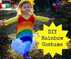 The Chirping Moms: DIY Rainbow Costume.  Turn your little girl into a cheery rainbow!