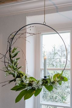 garten licht Winter feeling in January or tulips always go Pomponetti - Candle ring in winter decoration, pomponetti -