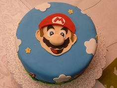 Almond pound cake with Swiss buttercream frosting, covered in fondant with fondant decorations. Mario Birthday Cake, Super Mario Birthday, Boy Birthday, Birthday Cakes, Birthday Ideas, Cake Images, Cake Pictures, Super Mario Torte, Almond Pound Cakes