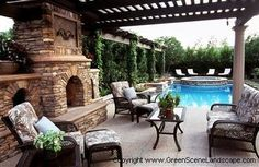 patio and pool... looks so relaxing!