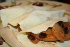 Fried Apples & Crepes  I'm gonna try these Crepes out as a tortilla for those enchiladas and see how it turns out!