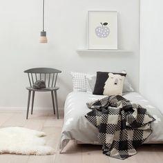 A minimal monochrome room #kids