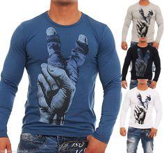 Herrenshirt Longsleeve T-Shirt Langarmshirt X-Name Men Streetwear &Clubwear WoW