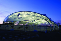 PVC & Single Layer ETFE Structure - Westlake Girls High School Sports Facility, Auckland, New Zealand