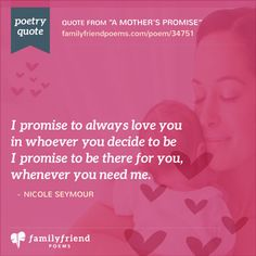 A Mother's Promise, Birth Poem