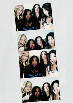 The girls from the Glee cast: Dianna Agron, Amber Riley, Lea Michele and Jenna Ushkowitz!
