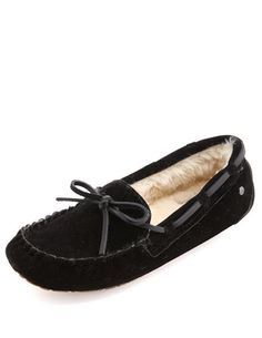 Fur-Lined Sueded Moccasin: Charlotte Russe