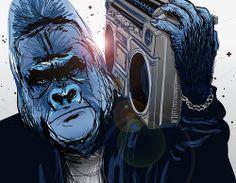 Gorilla character illustration