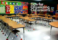 This shows a student centered classroom. The tables are arranged in a fun way.  The students can see each other which in turn makes it easier to learn. The teacher also has may different to walk through the classroom and help students.