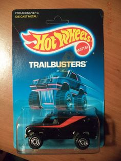 Hot Wheels Baja Breaker Trailbusters #4360 MINT in Package c.1988 Black  1:64 #HotWheels #Ford