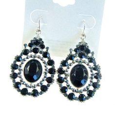 $2.38 Pair Of Elegant Vintage Rhinestone Embellished Waterdrop Shape Earrings For Women