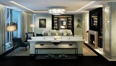 Luxury brands are facing a change in taste with a shift from ostentatious and mainstream brands into understated, creative new niche and premium brands. Living Area, Living Spaces, Living Room, Possible Combinations, Family Room Decorating, Pent House, Great Rooms, Luxury Branding, Interior Inspiration