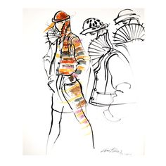 Antonio Lopez - Missoni for Vogue   From a collection of rare vintage  at http://www.1stdibs.com/fashion/books//