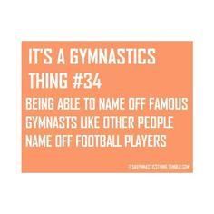"""It's A Gymnastics Thing"