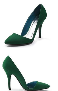 High Heels green Suede Stiletto Heel 6206 |Green Heels|