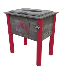 Loving this Ohio State Buckeyes Rustic Wooden Cooler on #zulily! #zulilyfinds