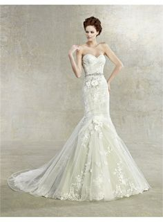 Best Selling Mermaid Tail Wedding Dress Bridal Gown Romantical Angel
