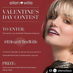 Our good friends at @ellenwilleus are having a photo contest! All you need to do to enter is: 1. Snap a photo in your fave Ellen Wille Wig styled how your would wear it for a hot date (oh yeah!) 2. Post it on Ellen Wille US's Facebook, Instagram, or Twitter (or all 3 :)) 3. Tag Ellen Wille US and use the hashtag, #IHeartEllenWille 4. Win your Ellen Wille Eye Power Eyebrow Palette! . . .  #Repost from @ellenwilleus #weheartellenwille #ellenwilleus https://www.instagram.com/p/BQgkkiLhBYn/ Shop…