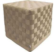 Tinglondon.com/collections Seat Belt Cubes; ottoman cubes made from car seat belts