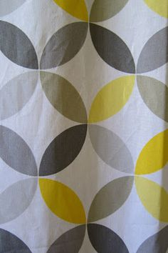 geometric yellow and grey shower curtain home goods