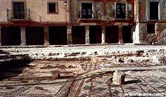 Ciudad Celtibérica y Romana de Occilis, actual Medinaceli (Soria) Mosaico de la plaza mayor en el momento de su descubrimiento.