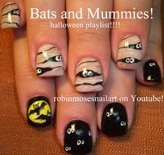 "Robin Moses Nail Art: ""halloween nails"" ""black cat nails"" ""cutest halloween…"