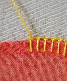 Tutorial for different blanket stitches. Naaisteken voor dekentje DIY