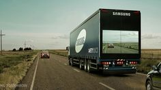 Samsung makes big trucks transparent in the name of road safety