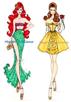 Croquis Hayden Williams - Ariel e Bela