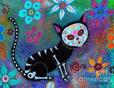 el Gato , Cats, My cats, 2 cats, Black cats, mexican art, tree, flowers, blooms, for sale, prisarts, pristine cartera turkus, daydreamers, dream, love, cat lovers, cat-lover, folk art, painting, great present, gift, christmas, birthday, graduation, house warming, nursery, room, interior design, wall art, print, thank you, friend, bestfriend, amiga, amigo, mom, dad, sister, brother