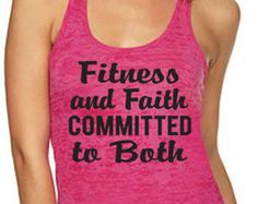 Fitness and Faith Committed to Both Workout Tank by WorkItWear