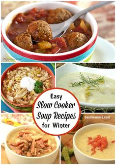 5 Slow Cooker Soup Recipes to Warm You Up This Winter Crock Pot Slow Cooker, Crockpot Meals, Slow Cooker Recipes, Cooking Recipes, Easy Meals For Kids, Easy Family Meals, Quick Meals, Yummy Recipes, Soup Recipes