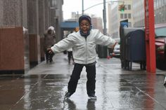 A Category One hurricane can allow for some Category Five dance moves. During Hurricane Sandy. From Humans of New York