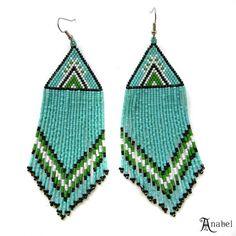 Grandes Turquoise perles Boucles d'oreilles par Anabel27shop