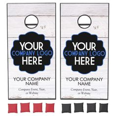Use Own Business Logo Wood Company Event Party Cornhole Set - tap/click to get yours right now! #CornholeSet #use #your #own #business #logo,