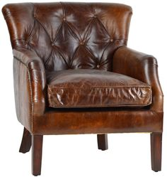 Aged Leather Club Chair  @flea_pop