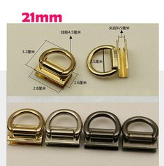 9f13b5b5fc7 10–100pcs 21mm purse bag bridge buckle replacement screw D strap hardware  accessories  arch