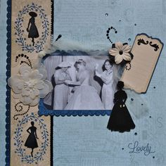 ScrappyHorses Vintage style layout.  CTMH stamps.  Balloon Ride Paper.  Artbooking.  Artfully Sent.  ScrappyHorses.ctmh.com