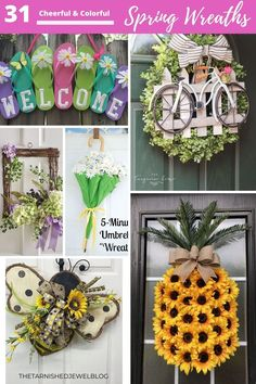 Need front door wreath ideas Wreaths For Front Door, Door Wreaths, Diy Wreath, Wreath Ideas, Monogram Signs, Diy Home Decor Projects, Brighten Your Day, Spring Wreaths, Christmas Wreaths