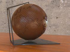 globo terráqueo de chocolate... Render en #3dsmax y #vray