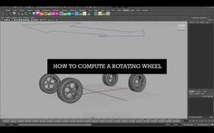 How to Automate a Rotating Wheel in Maya
